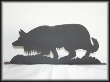 BORDER COLLIE Dog Western Metal Art Silhouettes HandCut