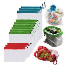 PT_ Cn_12pcs Riutilizzabile Produrre Sacchetti Corda Rete Frutta Verdura Gioca