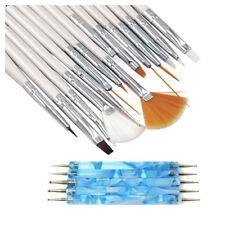 20PCS Nail Art Design Dotted Paint Brush Tools Polish Pen and Brush C1X2 O0F0 YS
