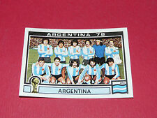 101 EQUIPO TEAM 1978 ARGENTINA 78 FOOTBALL PANINI WORLD CUP STORY 1990 SONRIC'S