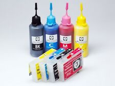 Refillable Ink Cartridges+200ML Pigment Ink for Epson 252 Ink Workforce WF-7610