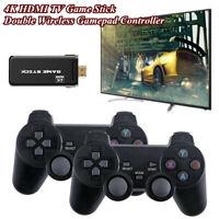 Mini 4K HDMI TV Game Stick w/64G Card Built-in 10000+ Games Console 2 Controller