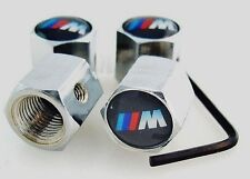 BMW M-Sport Car Anti Theft Alloy Valve Hub Dust Caps E60 E46 E90 E39 3 5 series