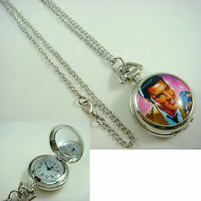Elvis Presley Women Ladies Girl Men Boy Fashion Pocket Watch Necklace FREE S&H