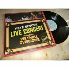 PETE SEEGER live concert featuring we shall overcome FOLK EMBASSY UK Lp 1975