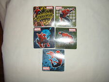 5-Spider-Man Glitter Stickers Party Favors