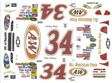 #34 Tony Raines A&W 1/24th - 1/25th Waterslide Decals