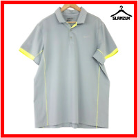 Nike Mens Golf Tour Performance Dri-Fit Polo Shirt XL Grey Neon Lightweight
