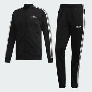 Adidas MTS 3 Stripes Track Suit Jacket Pants Black White 3 Stripes DV2448 Men's