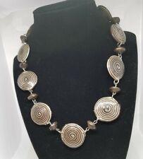 Brown Spiral Design Necklace