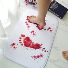 Bathmat Scare Your Friends Bloody Footprint Bath Bathroom Mat Non-slip Rug Grand