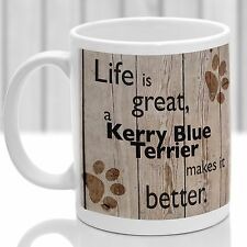 Kerry Blue Terrier Dog Tazza, Kerry Blue Dog regalo, regalo ideale per Amante dei Cani