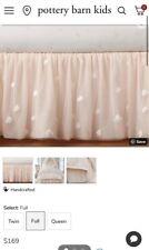 "Pottery Barn Kids Monique Lhuillier Ethereal Bed Skirt Full 16"" Drop Blush #K66"
