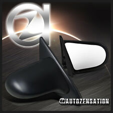 Fit 92-95 Honda Civic 2/3Dr Black Spoon Style Manual Side Mirrors