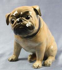 Mops hund figur porzellanfigur pug hundefigur porzellan wagner apel beige