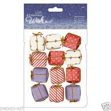 """Papermania mini présente 12pc pack a christmas wish 1"""" (2.5cm) décoration cubes"""