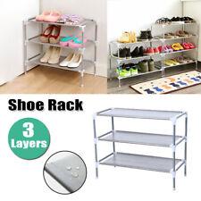 Shoe Organizer Rack 3 Tiers Storage Home Organizer Holder Space Saving Gray