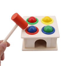 Baby Wooden Ball Hammer Box Montessori For Kid Over 3 Year Old Educational Toys