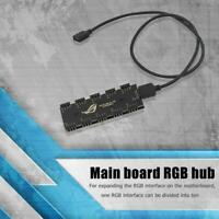 Multi 10 RGB Sync HUB Motherboard RGB Extension Cable Splitter for GIGABYTE AURA