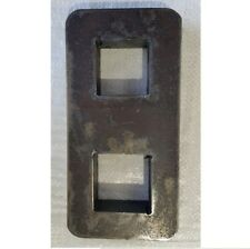 """Clearance Pair of 4"""" Drop plate suits 49mm 44mm square trailer axle AX144C"""