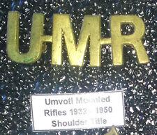 UMR Umvoti Mounted Rifles 1932 - 1950 WWII Shoulder Title ® - UDF