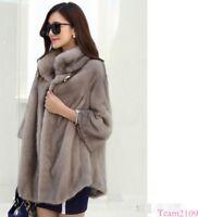 Women Coat Warm Mink Fur Casual Thick Long Jacket Parka Outwear Winter Snow BGHR