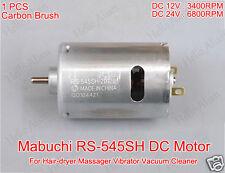 Mabuchi RS-545SH Electric DC Motor DC 12V-24V 6800RPM Hair Dryer Vacuum Cleaner