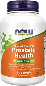 NOW Supplements, Prostate Health, Clinical Strength Saw Palmetto, 90 Softgels
