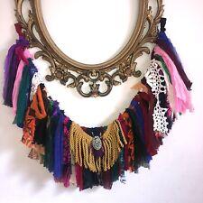 "Shabby Handmade Gypsy Boho Hippie Valance Rag Curtain Window,Wall,Door, 40""x 15"""