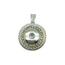 NEW Yellow Crystal Alloy Pendant for Fit Noosa Necklace Snap Chunk Button DR184