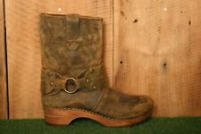 SANITA 'Mohawk' Distressed Brown Leather Harness Boots EUR 38| Approx. US 7.5