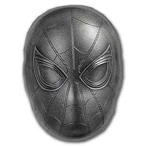2019 Fiji 2 oz Silver Marvel Icon Series Spiderman Mask - SKU#191907