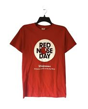 Walgreen's Red Nose Day Employee Team Uniform Work Graphic T-Shirt Size Small