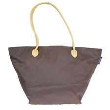 Auth Burberry Blue Label Nova Check Nylon,Leather Shoulder Bag Brown 03GB578
