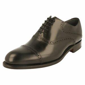 Hommes BARKER Noir Leather Chaussures Richelieu à Lacets WILTON G Pour