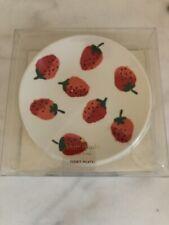 NWT Kate Spade $30 Strawberries Set Of 4 Melamine Tidbit Plates