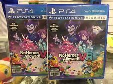 PS4 No Heroes Allowed! VR (Asian English) ASIA EXCLUSIVE | BRAND NEW AND SEALED