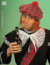 Scottish Tartan Sporan With Ginger Wig Hair Flat Cap Pub Golf Fancy Dress