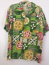 "Vintage 1960 JC Penny Hawaiian Aloha tiki shirt XL 48"" rare large size barkcloth"