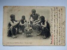 SOUTH AFRICA Zulu boys old postcard