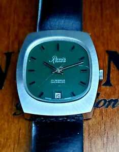 VINTAGE RENIS GENEVE  5201 Date Mechanical Men's Swiss Made Watch N.O.S.