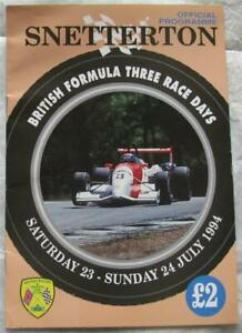 SNETTERTON 23/24 Jul 1994 British Formula Three Race Days Official Programme