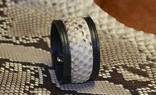 Bracelet cuir et peau de Python Véritable Les Cuirs Nomades