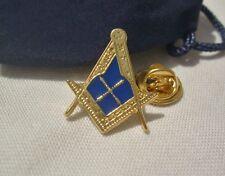 Masonic Mason Freemason Lodge officer Marshal Marshall Lapel Pin Plus Gift Pouch