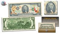 BARACK OBAMA * Inauguration * $2 Bill U.S. Legal Tender GOLD LEAF Laser Line