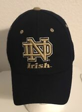 Notre Dame Fighting Irish Zephyr Fitted  Ball Hat/Cap 7 - Navy Blue