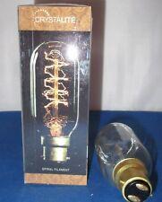 40w BC BAYONET CAP B22 ANTIQUE VINTAGE SPIRAL FILAMENT TUBULAR SHAPE LAMP BULB