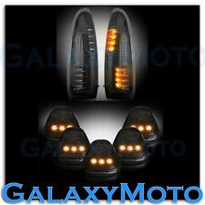 03-07 Ford Super Duty SMOKE Lens Amber LED Mirror Turn Signal+5pcs Cab LED Light