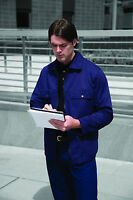 Davern Workwear Mens Work Drivers Jacket Coat Uniform Warehouse S-3XL Navy Blue