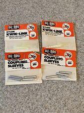 Vintage New RC R/C NOS DU-BRO 110 Coupling Sleeves & 122 Nylon Kwik-Links Lot 4